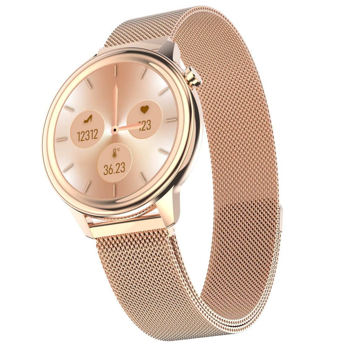 Розумні годинник Lemfo F80 Metal з підтримкою вимірювання тиску і температури (Золотий)