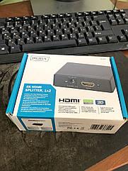 Сплиттер Digitus HDMI (INx1 — OUTx2), 4K Black (DS-46304)