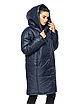 """Зимняя женская длинная куртка с вшитым капюшоном больших размеров """"Марго"""", фото 4"""