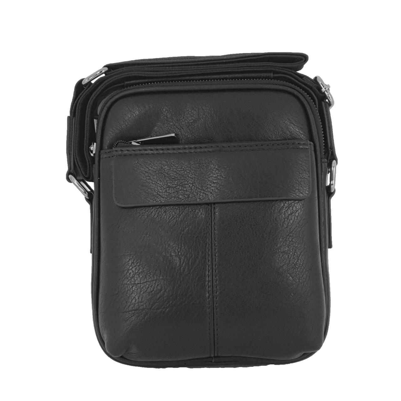 Многосекционная сумка с ручкой из экокожи