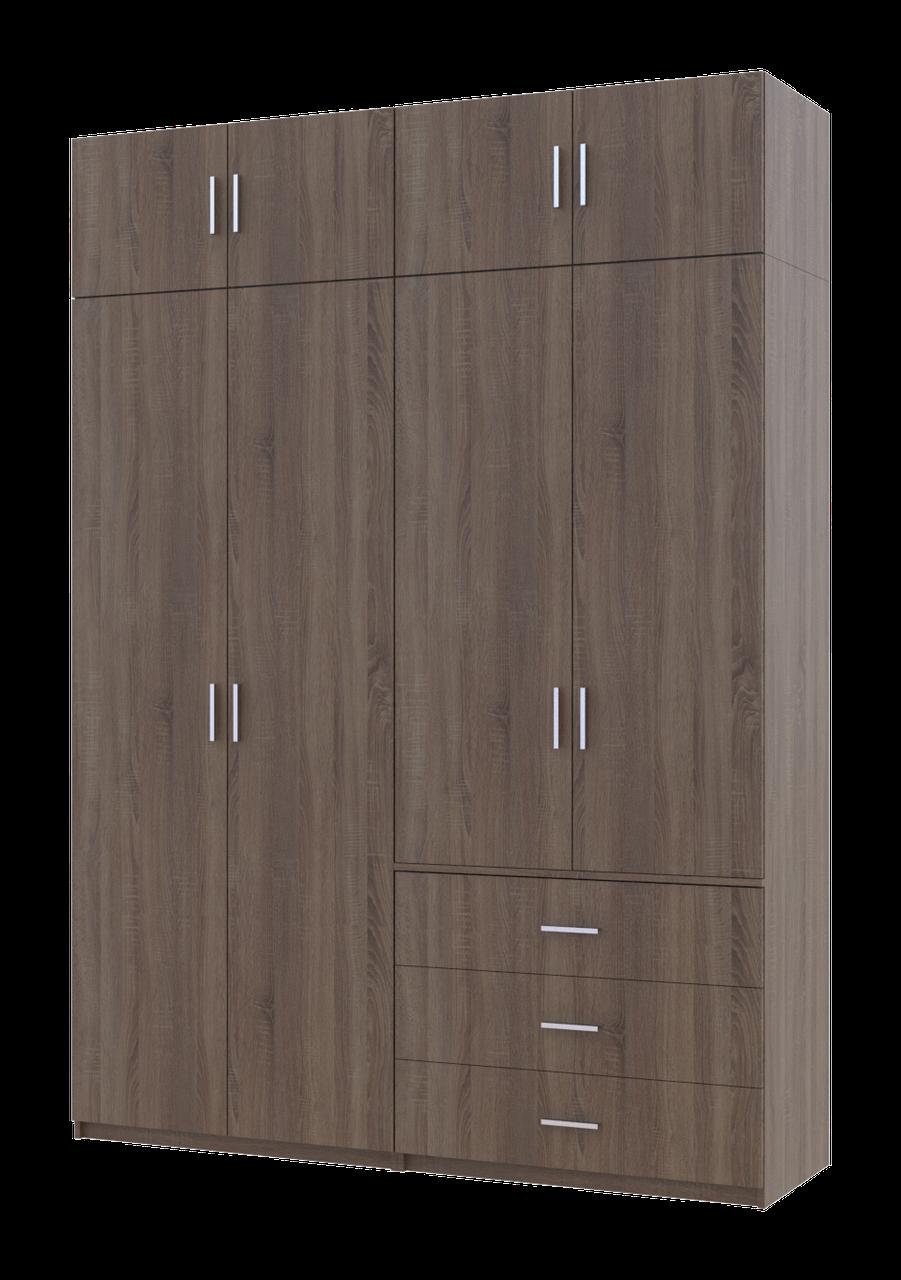 Шкаф Мартин 1800х520х2500 ДСП трюфель (комплект 16)