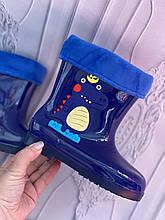 Детские резиновые сапоги синего цвета