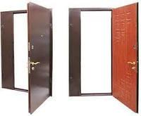 Двери полуторные (МЕТАЛ + МДФ)