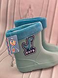 Детские резиновые сапоги синего цвета, фото 3
