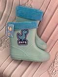 Детские резиновые сапоги синего цвета, фото 7