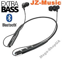 Вакуумные наушники и гарнитура беспроводные Bluetooth блютуз PW41S / MP3 плеер. Бездротові вакуумні навушники