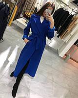 Пальто женское кашемировое 464 (42-46 универсал) (цвета: малина,чёрный,электрик) СП, фото 1