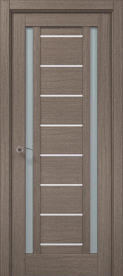 Дверь межкомнатная «Папа Карло» ML-50AL (застекленная), дуб серый