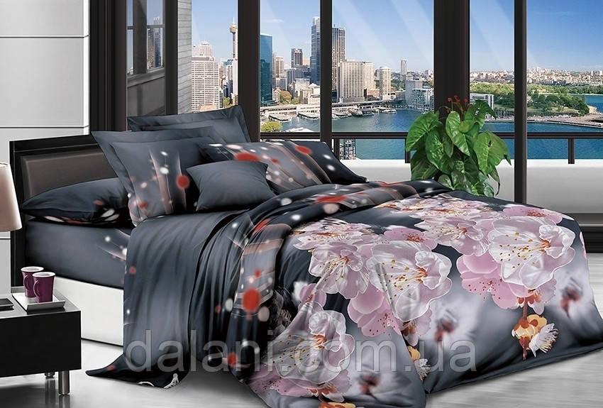 Полуторный комплект постельного белья из поликоттона 3D
