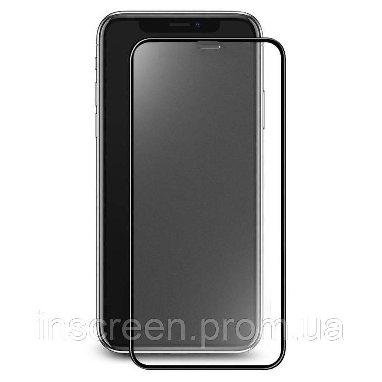 3D Защитное стекло для Xiaomi Redmi Note 8 Full Cover 0.3 мм, 2.5D, черное, матовое, фото 2