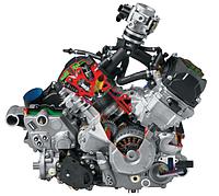 Двигатель выхлопная система кв...