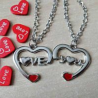 """Парные кулоны """"Love"""", фото 1"""