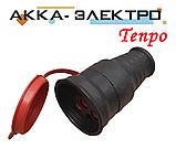Розетка кабельная каучуковая 25А 380В Tenpo, фото 2