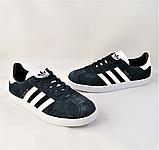 Кроссовки Adidas Gazelle Синие Адидас Женские (размеры: 37,38,39,40,41) Видео Обзор, фото 2