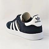 Кроссовки Adidas Gazelle Синие Адидас Женские (размеры: 37,38,39,40,41) Видео Обзор, фото 5