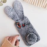 Чехол кролик плюшевый с ушками для Huawei Honor 8X, фото 7