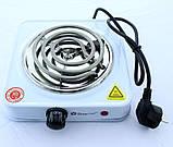 Электрическая Плита Настольная Печка Электроплитка Спираль, фото 6