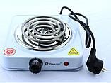 Электрическая Плита Настольная Печка Электроплитка Спираль, фото 7