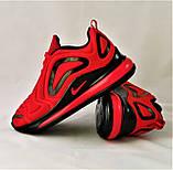 Кроссовки N!ke Air Max 720 Красные с Чёрным Мужские Найк (размеры: 42,43,44,45) Видео Обзор, фото 8