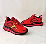 Кроссовки N!ke Air Max 720 Красные с Чёрным Мужские Найк (размеры: 42,43,44,45) Видео Обзор, фото 9