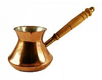 Мідна турка Джезва для кави НЛО гладка 350 мл. Артемівськ, фото 1