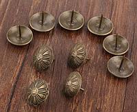 Цвяхи меблеві металеві з тисненням 16х19 мм