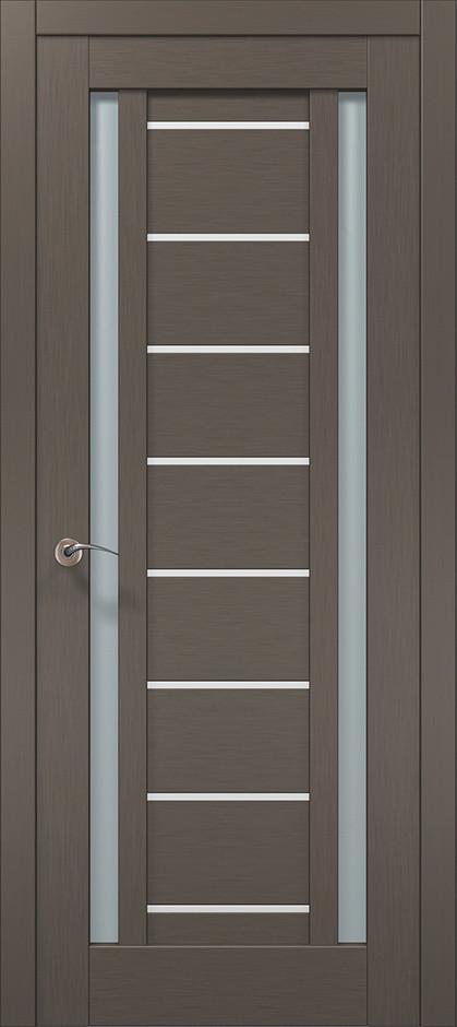 Дверь межкомнатная «Папа Карло» ML-50AL (застекленная), шелк трюфель