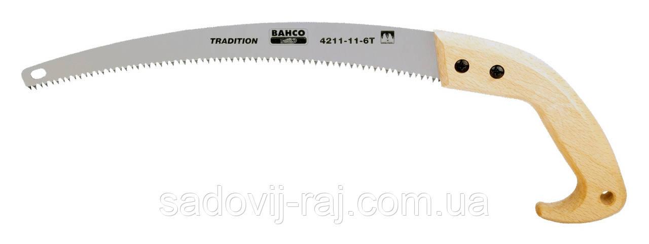 Садовая обрезная пила Bahco 4211-11-6T (закаленую зуб), 280 мм