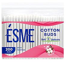 Палички Ватні Гігієнічні Вушні ESME Есмі Пакет 200шт
