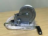 Лебедка для прицепа с лентой и крюком 1400lbs оцинкованная, фото 2