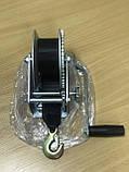 Лебедка для прицепа с лентой и крюком 1400lbs оцинкованная, фото 4
