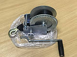 Лебедка для прицепа с лентой и крюком 1400lbs оцинкованная, фото 3