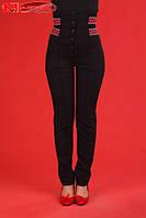 Штаны с вышивкой женские, размер 50