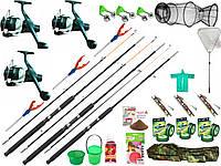Набор рыболовный Crocodile(чорные на закрутке), универсальный набор для рыбалки, подарочные наборы для рыбалки