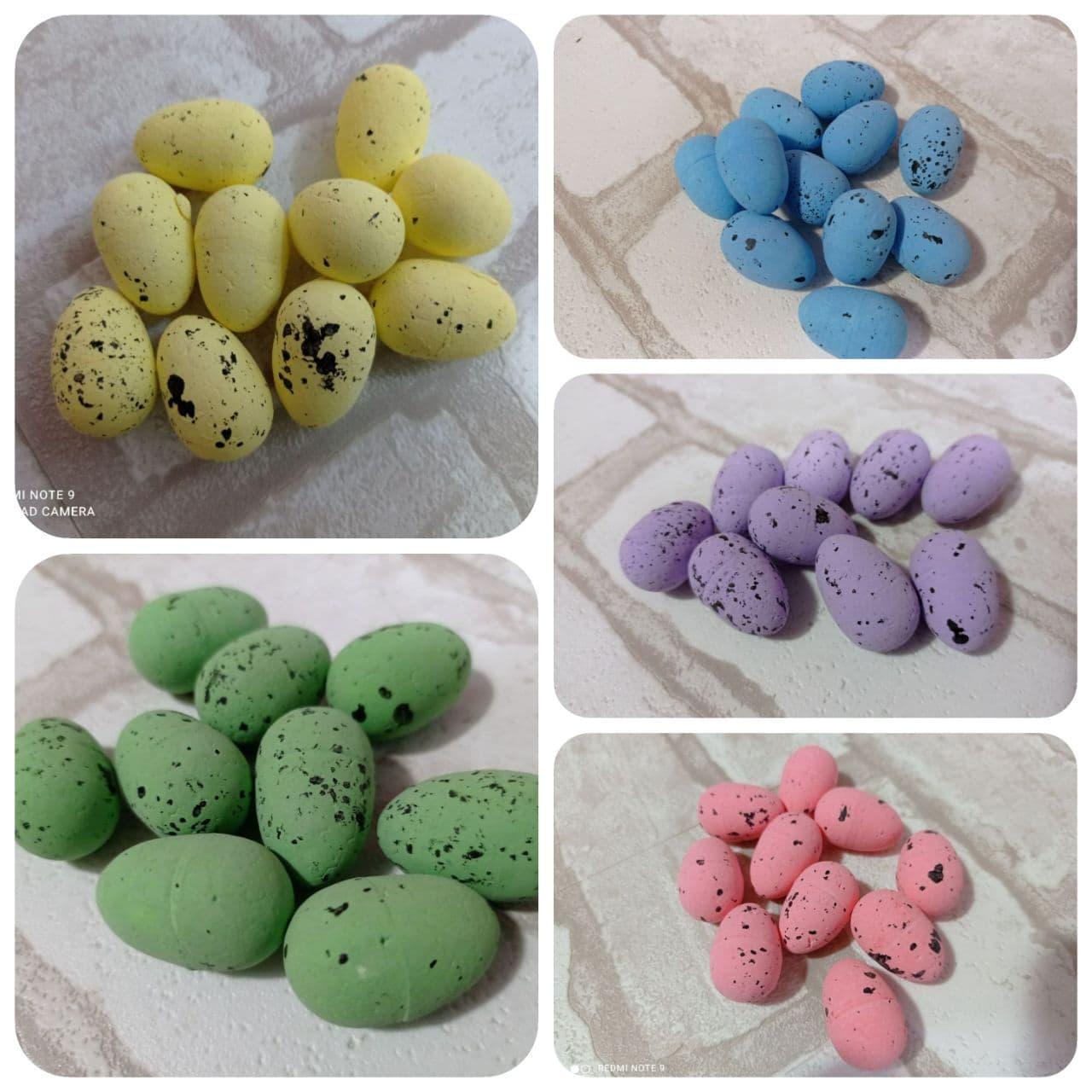 Яйца пенопластовые для декора h-3 см, 9 шт/уп 20 грн
