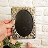 Стара англійська фоторамка, рамка для фото, посріблений метал, Англія, вінтаж, фото 4