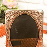 Стара англійська фоторамка, рамка для фото, посріблений метал, Англія, вінтаж, фото 7