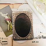 Стара англійська фоторамка, рамка для фото, посріблений метал, Англія, вінтаж, фото 8