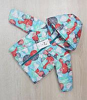 """Демисезонная курточка для маленьких девочек """"Льоля"""" принт шари 80-98"""