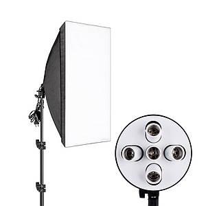 Студійне світло, софтбокс на 5 ламп ( 60х90см )