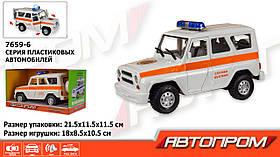 Машина батар. 7659-6 (36шт/2) АВТОПРОМ Служба безпеки, в коробке 21*11*11