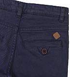 Подростковые детские синие брюки чинос для мальчиков 3-13 лет, 98-104 см, фото 3