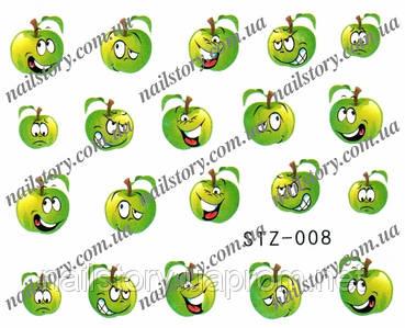 Водные наклейки для ногтей STZ008