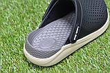 Детские шлепанцы кроксы сабо crocs grey black черные серые р30-35, фото 4