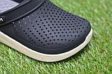Детские шлепанцы кроксы сабо crocs grey black черные серые р30-35, фото 7
