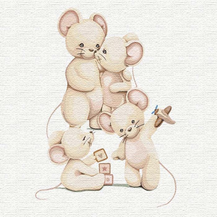 """Картина по номерам Идейка """"Cчастливая семья"""" 30х30 см KHO2359"""
