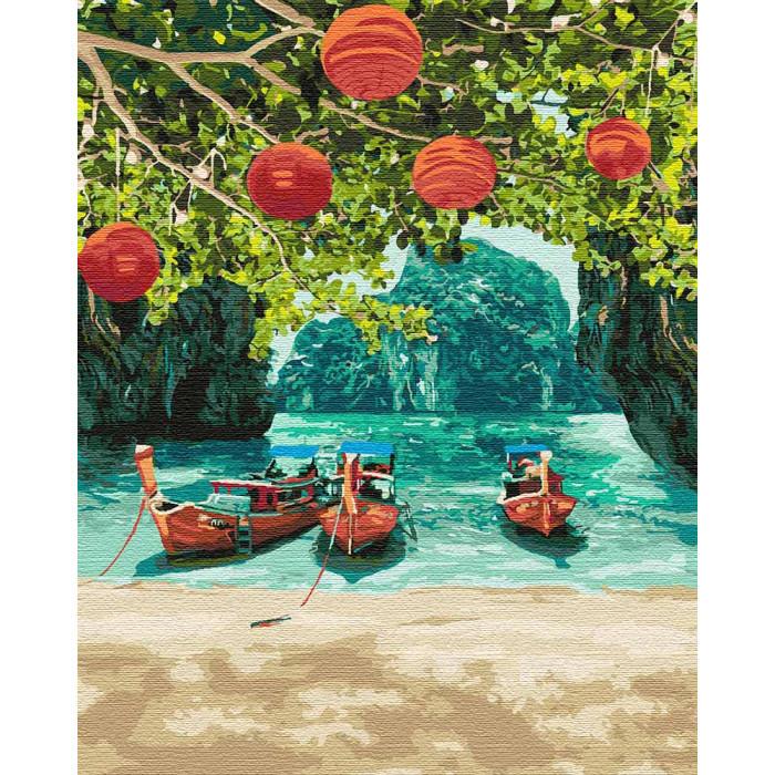 """Картина по номерам Идейка """"Отдых в Таиланде"""" 40х50 см KHO2291"""