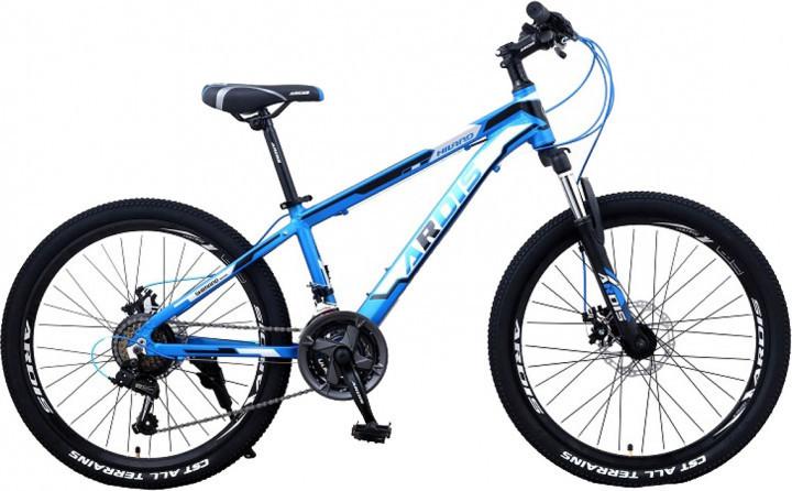 """Подростковый горный велосипед Ardis HILAND R24"""" 11"""" с алюминиевой рамой и дисковыми тормозами (Синий)"""