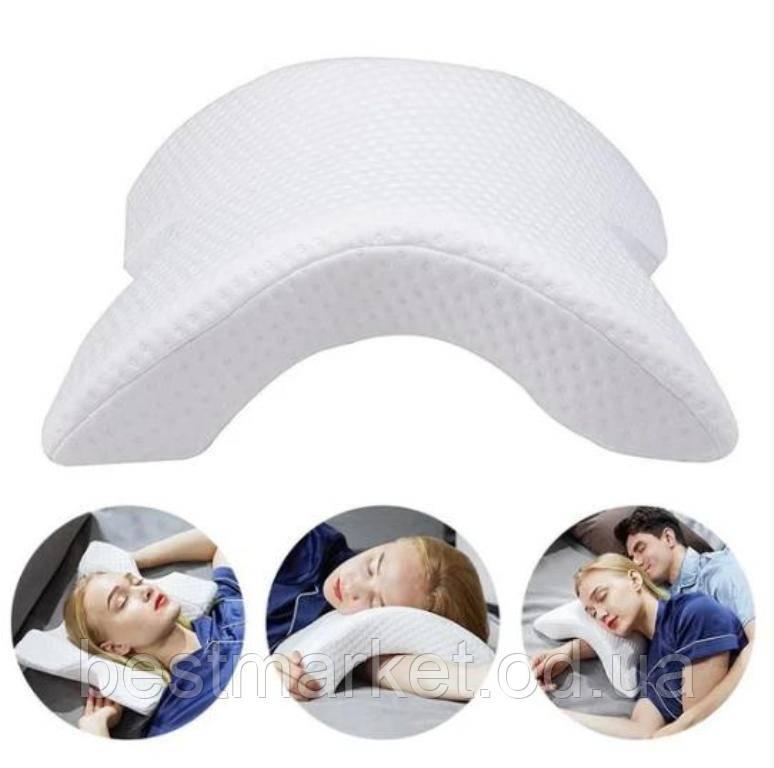 Ортопедична Подушка для Сну Вигнута з Ефектом Пам'яті Memory Pillow Pressure Free