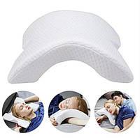 Ортопедическая Подушка для Сна Изогнутая с Эффектом Памяти Memory Pillow Pressure Free, фото 1